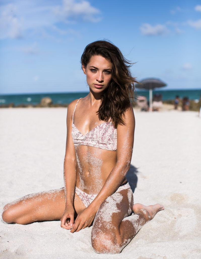 Xenia wearing Beach Riot bikini during Miami Swim Week. Photo by Samuel Black