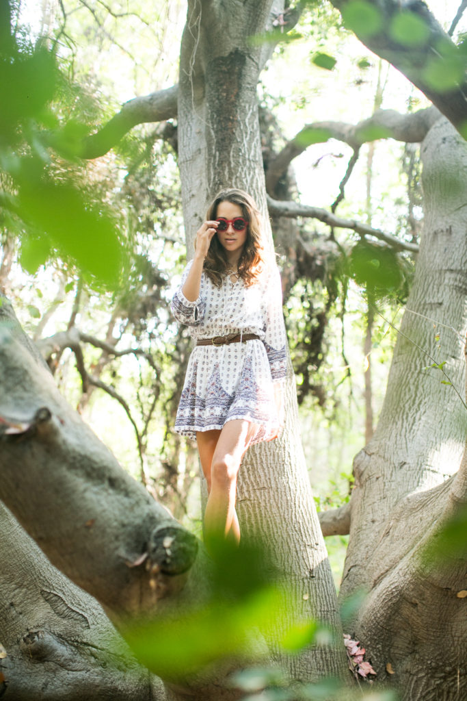 Fashion editorial n the forest. Streetstyle in AUguste the Label. Photos by Samuel.Black