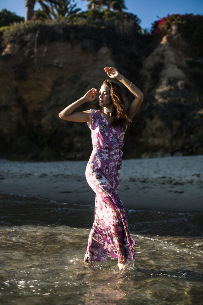 Washed Ashore. Xenia wearing Auguste the Label dress. Photographed by Samuel.Black