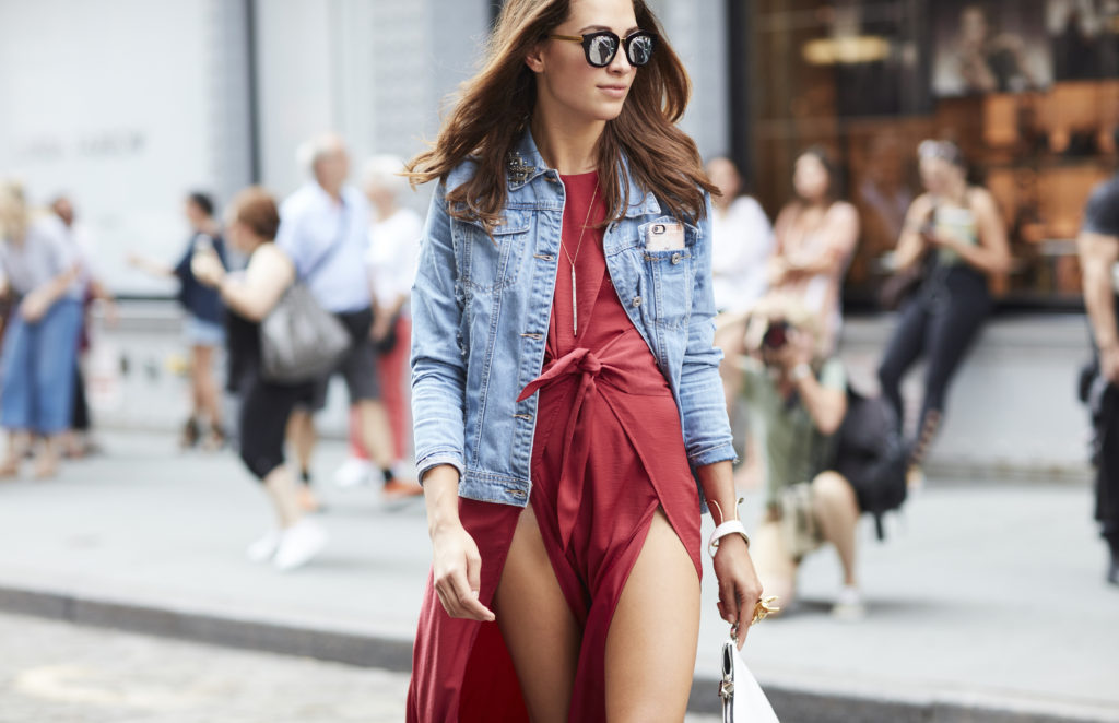 Xenia Mz streetstyle at NYFW Rebecca Minkoff SS17 show in Soho. Photographed by Ben Fink for Lord & Taylor
