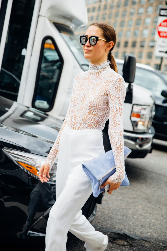 Xenia Mz NYFW spring summer 2017 Streetstyle day 3 outside of Jason Wu. Photo by Same Lee