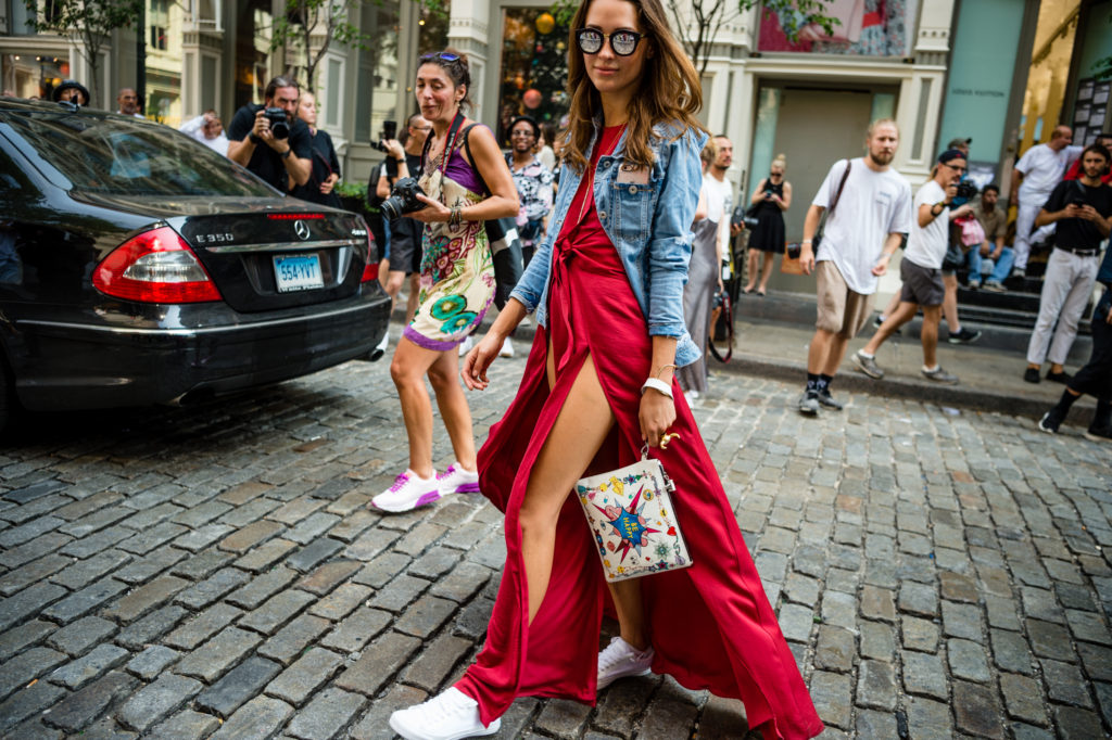 Xenia Mz streetstyle at NYFW Rebecca Minkoff SS17 show in Soho. Photographed by Walking Canucks