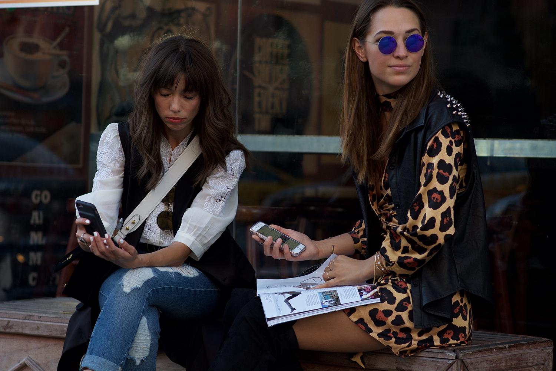 Xenia's NYFW Diaries Part 4 streetstyle fashion. Photo by Emilio Mendoza