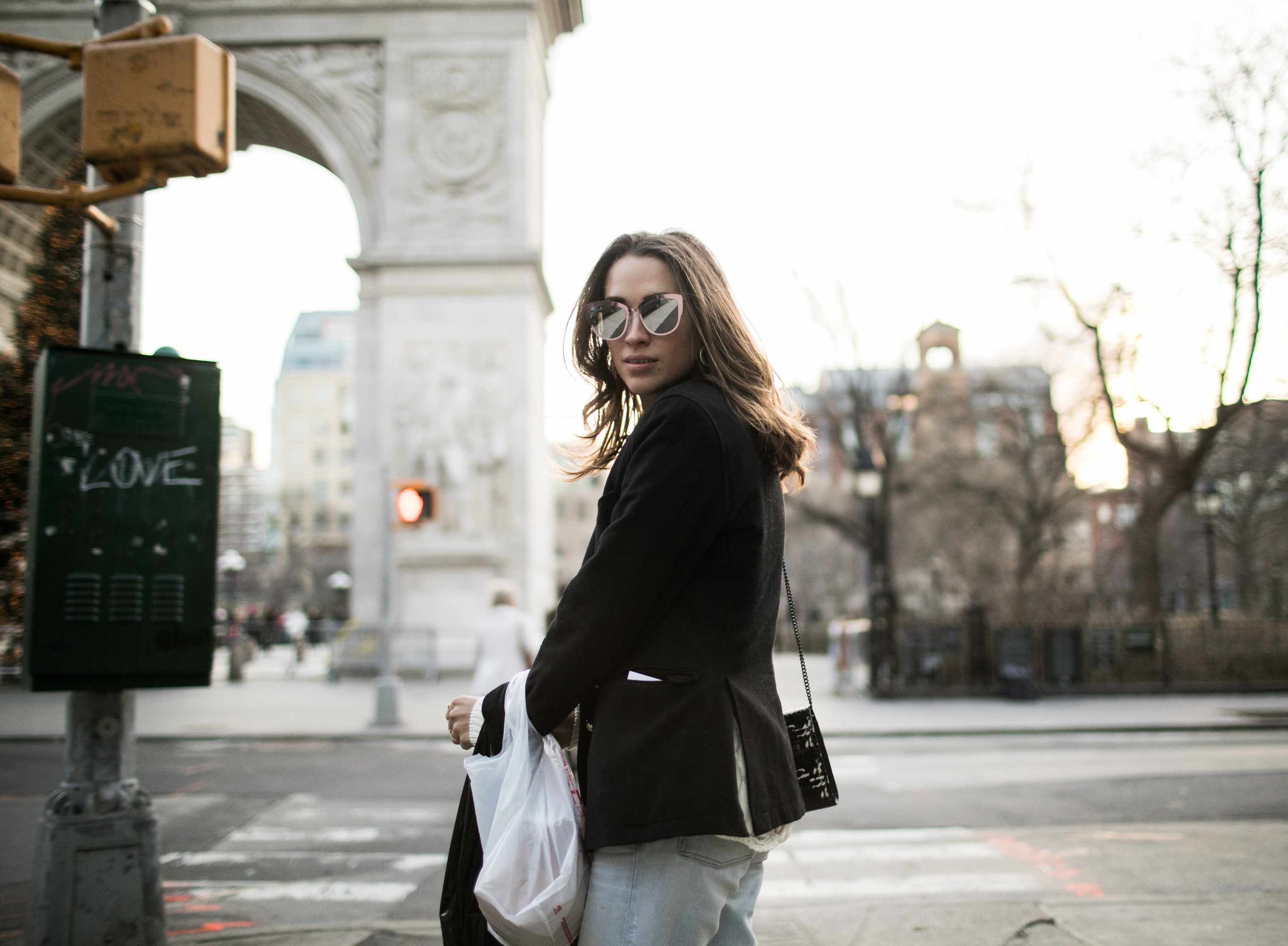 Xenia.Mz Russian Blogger Streetstyle Adventures in New York City During Christmas. Photo by Samuel.Black