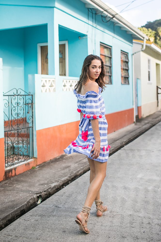 48b104501c Russian model and blogger Xenia and photographer Samuel Black exploring St  Lucia. Xenia wears Sundress. Fashion Photographer Samuel Black shoots model  ...