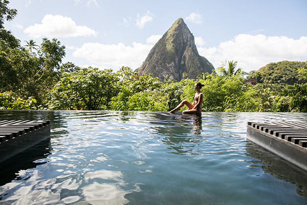 Adventures in St. Lucia. Blogger Xenia Mz photographed by Samuel Black