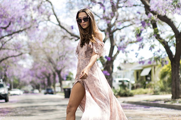 Jacaranda blossoming streetstyle fashion inspiration. Photos by Samuel Black