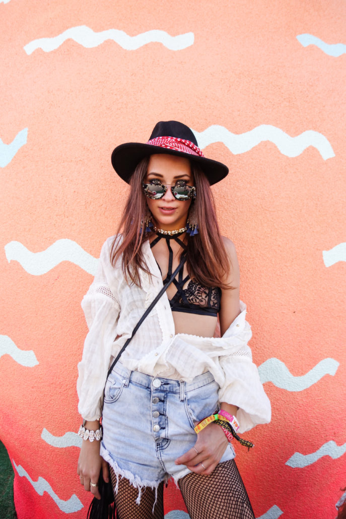 Coachella 2017 Weekend 2 festival fashion style seen on blogger model Xenia.Mz. Photos by Samuel Black